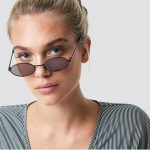Le Specs Love Train Oval Sunglasses